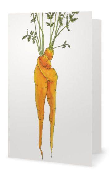 """Inside: """"I Carrot A Lot About You"""""""