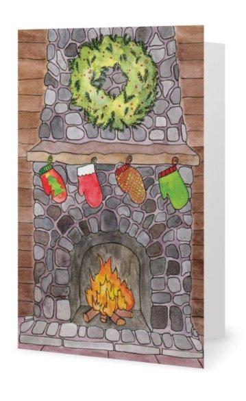 "Inside: ""Merry Christmas"""