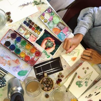 botanical watercolor workshop 2