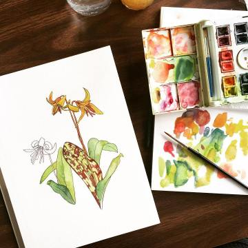 Botanical Watercolor Workshop 5
